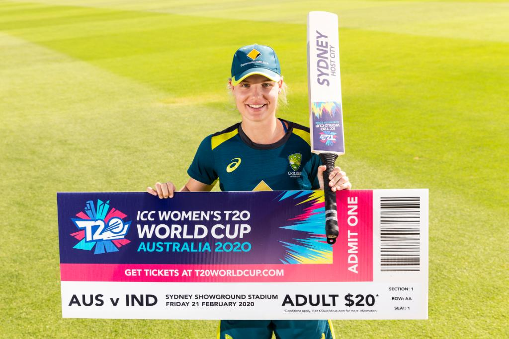 February 21 will mark 1 YEAR TO GO to the @ICC Women's #T20WorldCup! Tickets* for all matches, including the blockbuster opener between hosts Australia and India at @SydShowground will go on sale from Midday (AEDT). 🎟🏏  *Ticket not to scale
