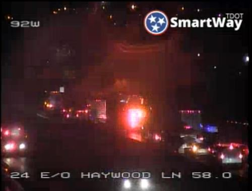 #2TeamTraffic : Multi-vehicle crash blocking lanes on I-24 East between Bell Road and Haywood Lane. LIVE traffic updates with@BrieThiele  coming up on#GMN  WATCH:https://t.co/mYOlrBZNdF
