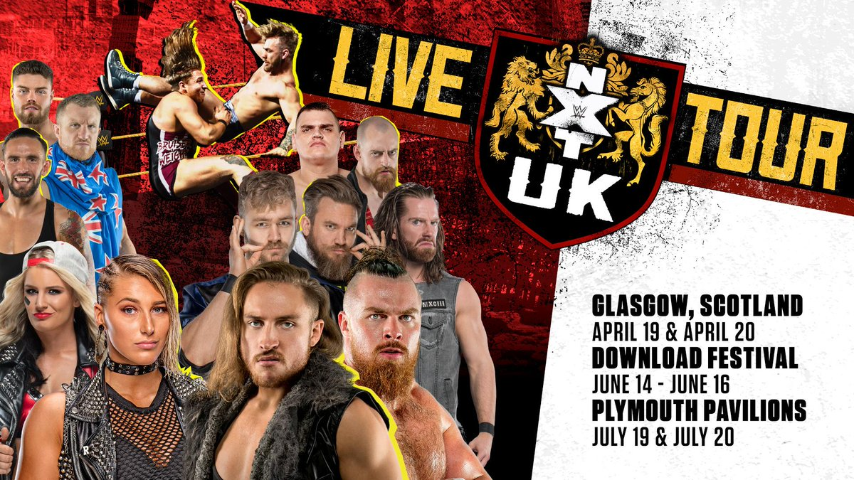 #NXTUK LIVE is heading to Glasgow, @DownloadFest, and Plymouth Pavilions! Here's everything you need to know: http://wwe.me/iWsjGm
