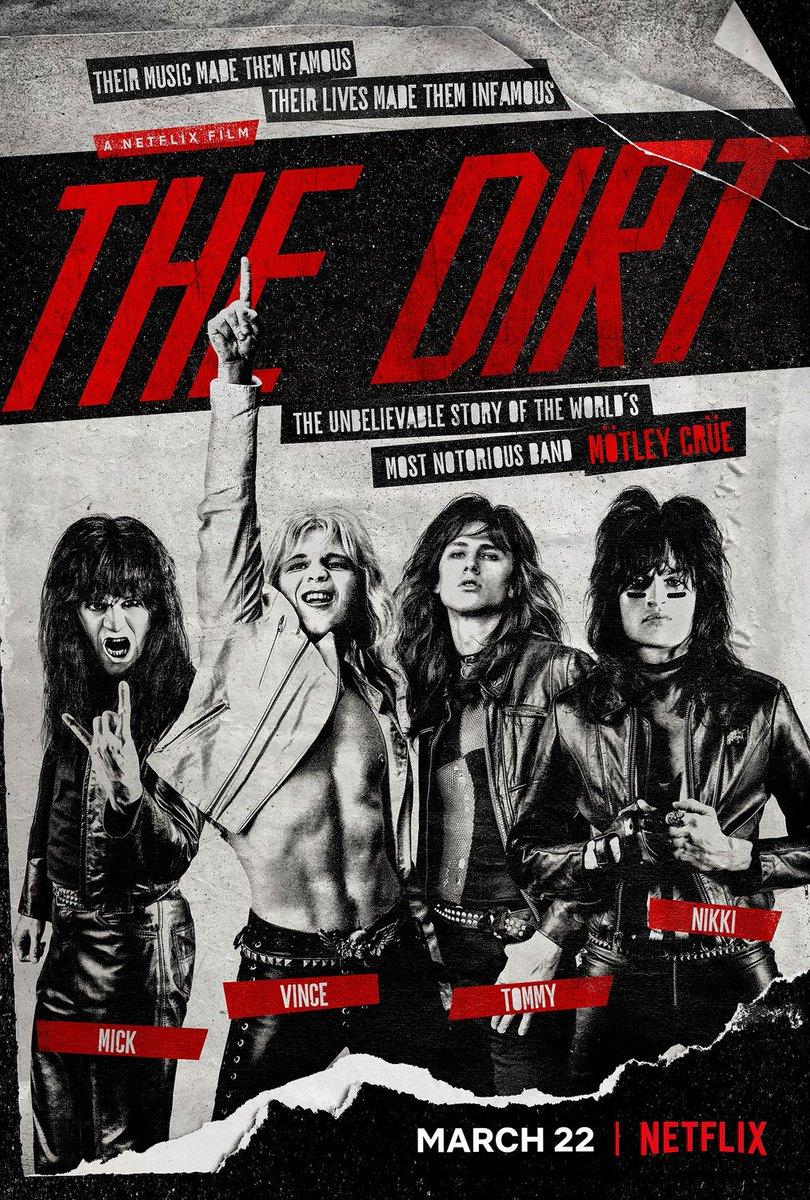 22 Mart'ta Netflix'te yayına girecek, ABD'li rock grubu Mötley Crüe'ye odaklanacak 'The Dirt' filminden ilk afiş: