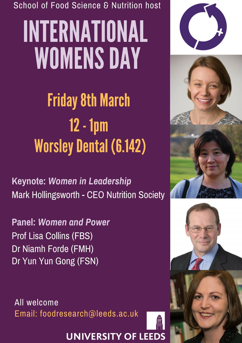 Looking forward to this #InternationalWomensDay2019 event on 'Women and Power' run by @FoodSciLeeds and featuring #africap co-I, @yunyungong among others... #WomeninLeadership #WomenInScience