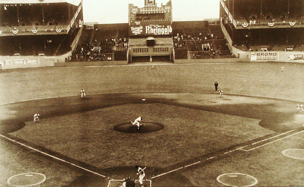 Apr 13, 1962 - After being dormant for 1,657 days, the Polo Grounds is alive again as Bill Virdon leads off in 1st-inning for Pirates in Mets inaugural home game. The Bucs, who won this game 4-3, were also the team the Giants played in their last home game here on Sept 29, 1957