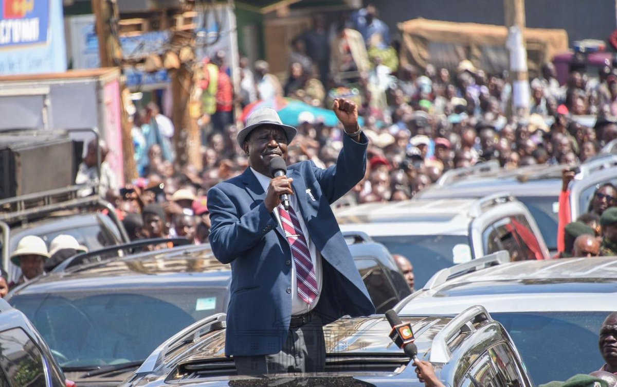 Image result for images of Raila in Kisii to open referral hospital