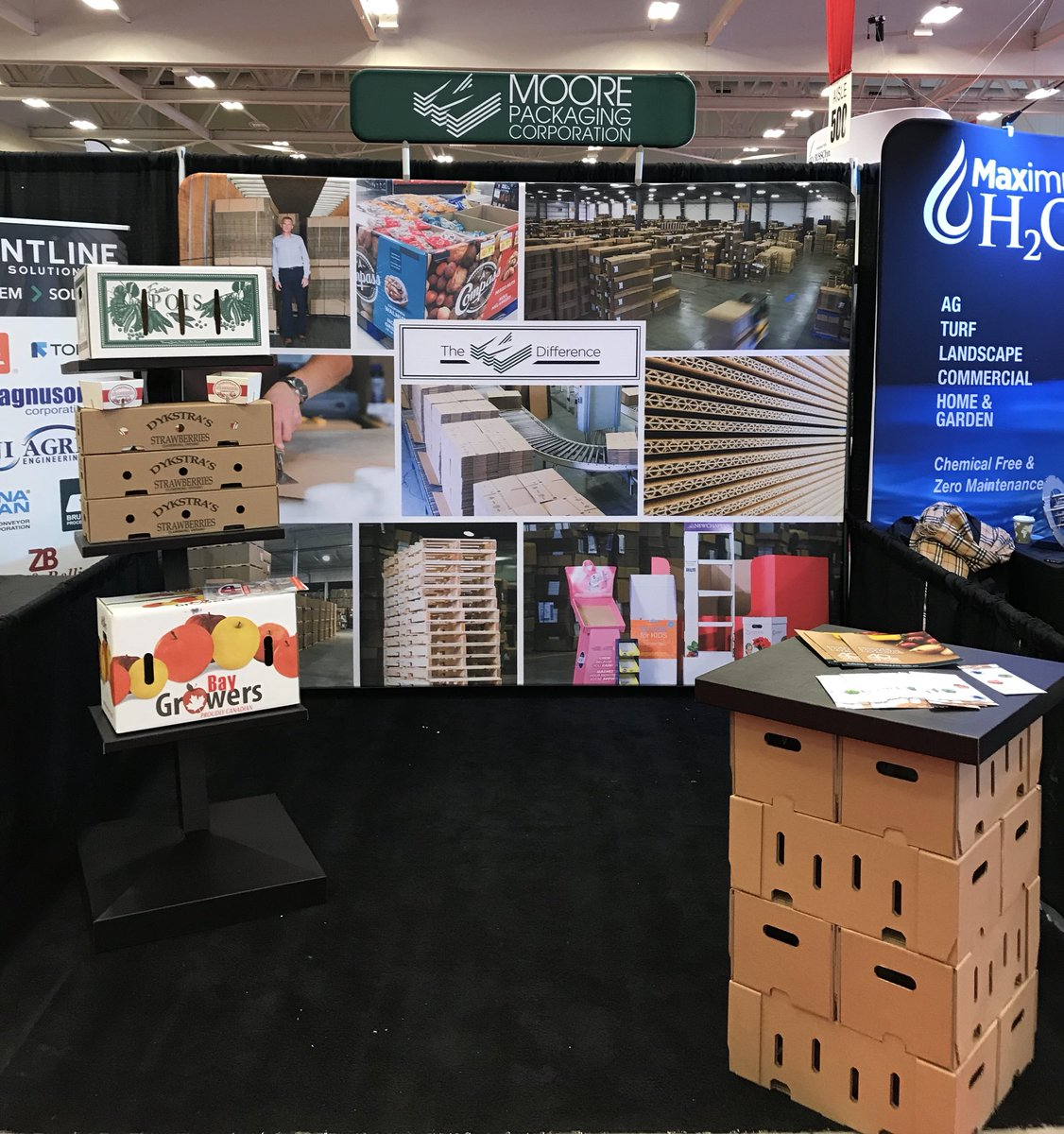 Drop by our booth at the Ontario Fruit and Vegetable Convention. Booth #729  #vegetables #fruit #corrugated #boxes #ofvc2019 #moorepackaging