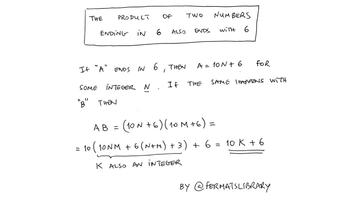 The product of two numbers ending in 6 also ends with 6