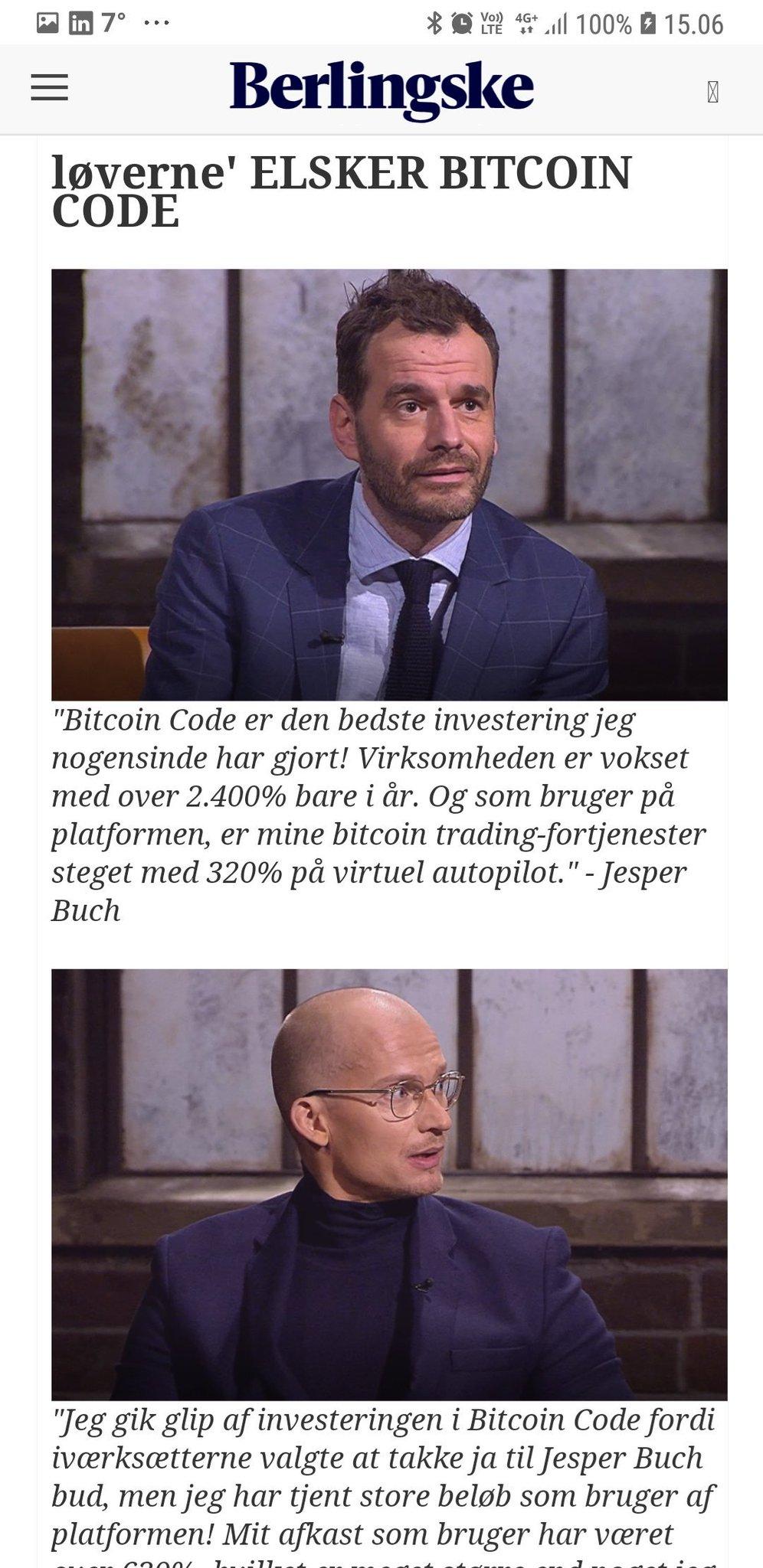 bitcoin trader jesper buch