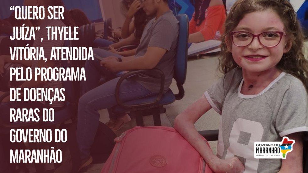 Vamos falar de conquistas? A Thyele Vitória, 19 anos, é assistida pelo programa de doenças raras do Governo do Maranhão. Essa sua nova fase da vida, na faculdade de direito, demostra o avanço da assistência da gestão estadual aos pacientes deste grupo ❤  https://t.co/ifnaRLmIr8