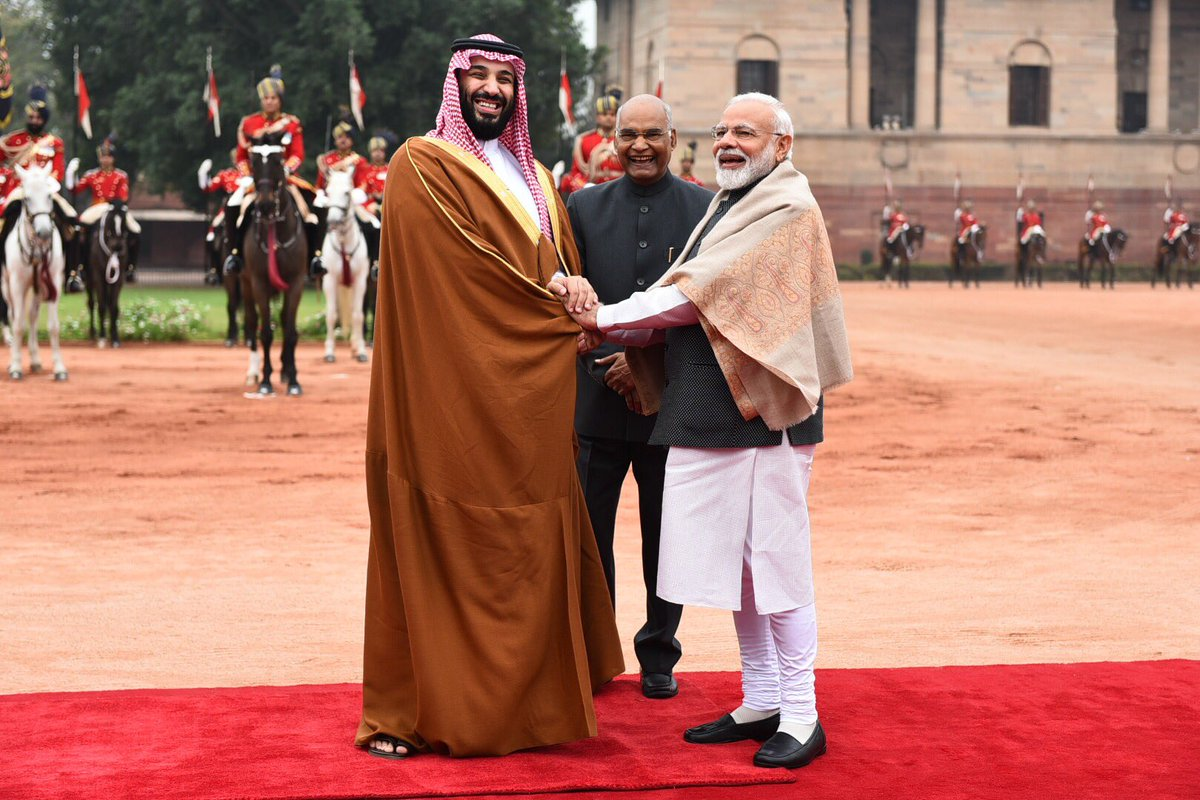 Held extensive talks with HRH Mohammed Bin Salman, the Crown Prince of Saudi Arabia.   India's ties with Saudi Arabia are historical and time-tested.   Saudi Arabia is a valued strategic partner of India in the 21st century.