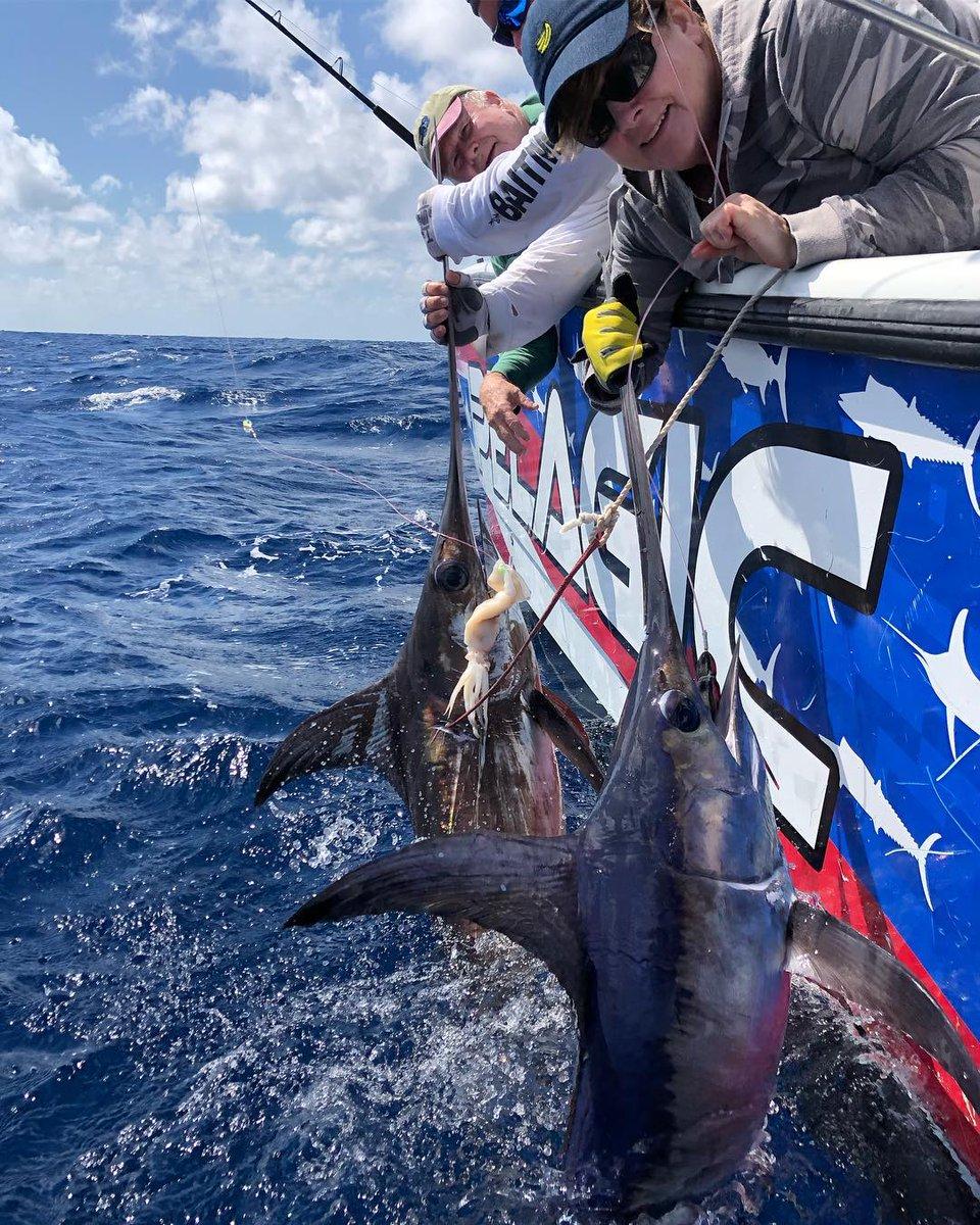 Islamorada, FL - Capt. Nick Stanczyk on Broad Minded went 3-3 on Swordfish.