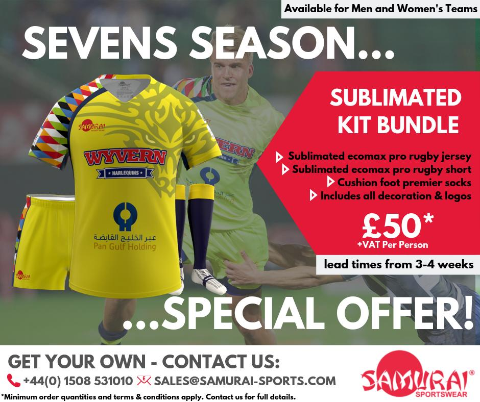 test Twitter Media - 🏈 SEVENS SEASON BUNDLE 🏈 Shirt, Shorts & Socks for just £50. Upgrade to an Iconix shirt for just £15. To get yours, email sales@samurai-sports.com or call us on  (+44) 1508 531010 ... #sevensseason #sevens #rugbysevens #rugby https://t.co/ino2Tew5s0