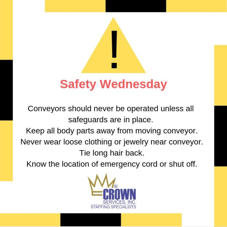 We take safety for all of our employees very serious so much so that we offer weekly safety tips. #Safety #Workplacesafety #SafetyTip #Jobs #JobSatisfaction #JobOpenings