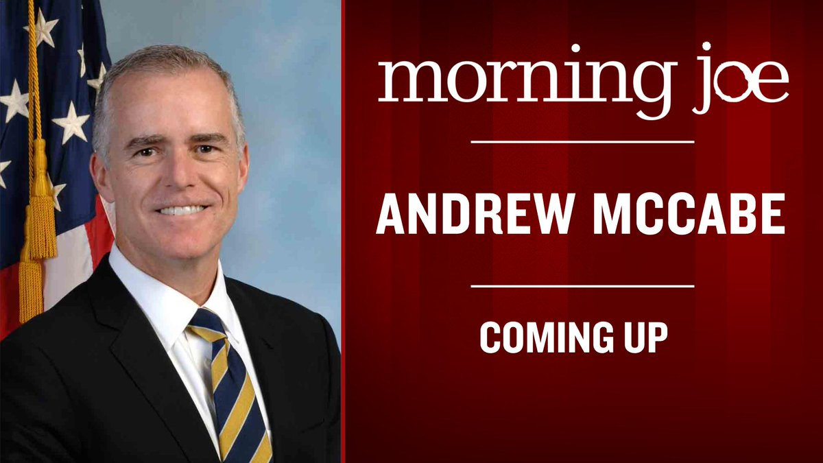 Coming up: Former Acting FBI Director Andrew McCabe
