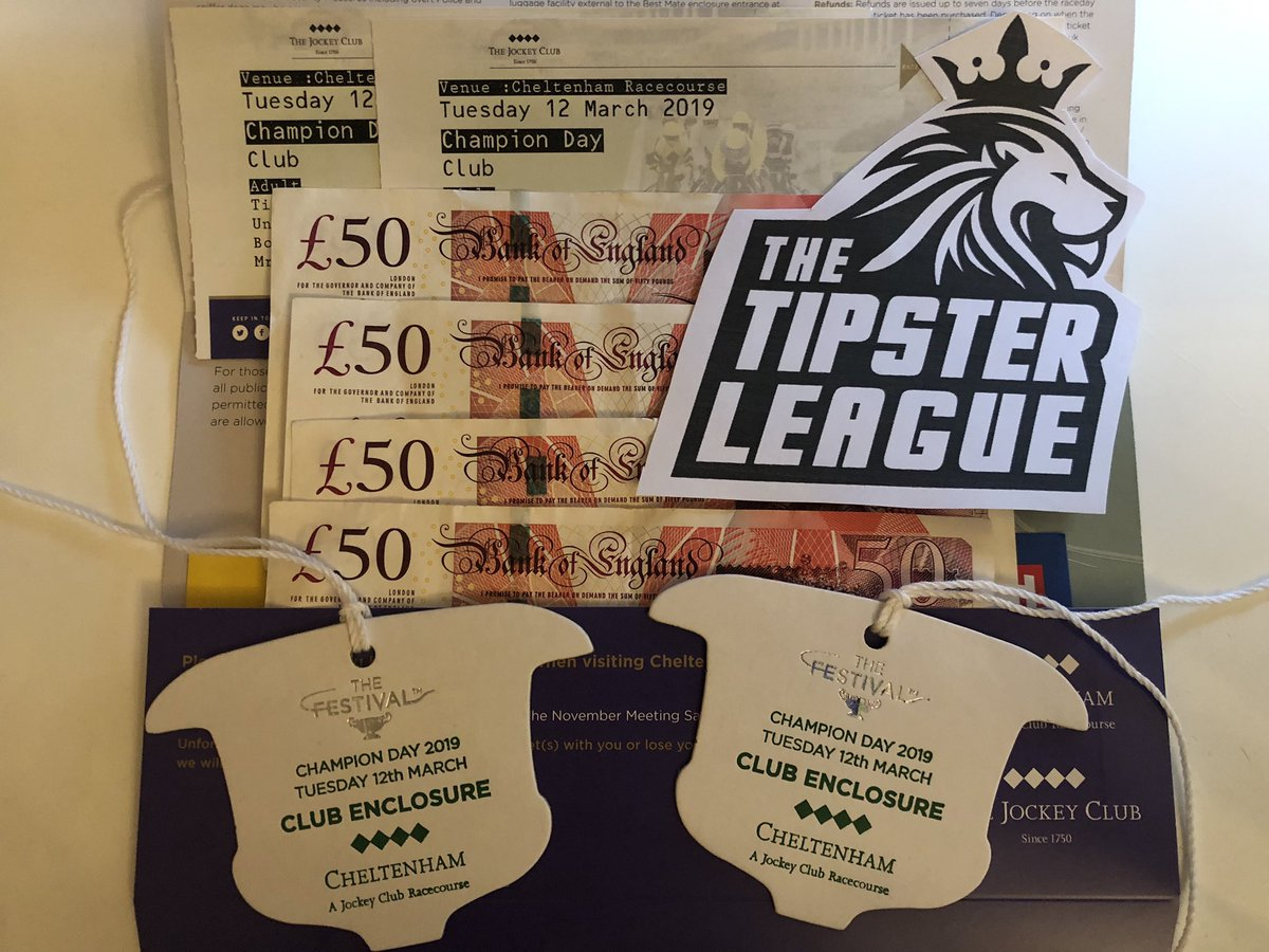 🏇 CHELTENHAM GIVEAWAY 🏇  Want to hear the famous Cheltenham roar LIVE?  We're giving away TWO tickets for Cheltenham Festival Opening Day (12th March) plus £200 CASH!  To enter: 🔁 RETWEET this tweet 👍 FOLLOW us @TipsterLeagues
