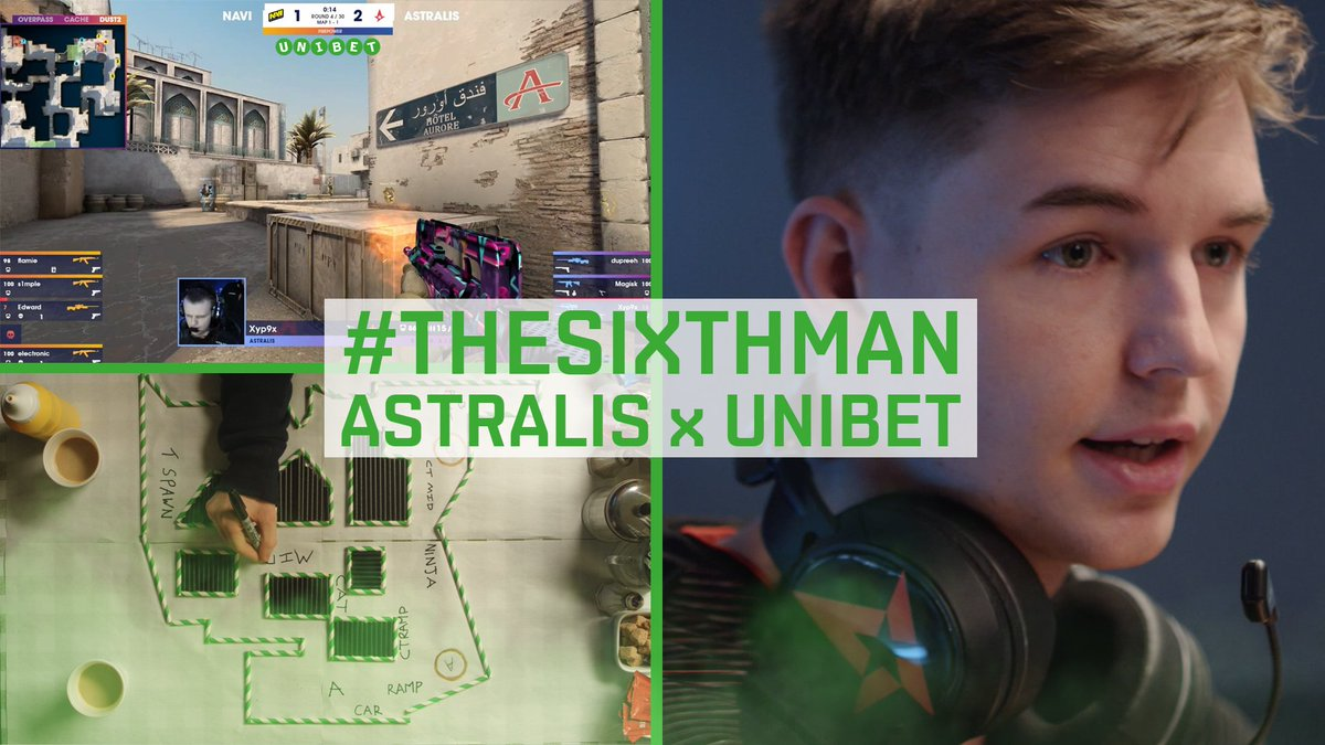 Whether we're 16-0 on Train or staring down the T side on Overpass, we're not out here alone. To the best fans in the world, we hear you.   @UnibetEsports #TheSixthMan #ToTheStars ✨