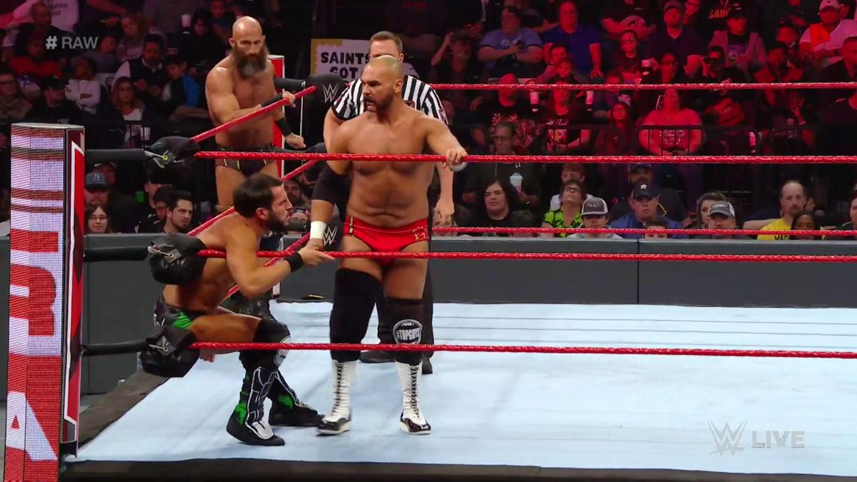 From @WWENXT to #RAW... #TheRevival @ScottDawsonWWE & @DashWilderWWE and @JohnnyGargano & @ProjectCiampa took their rivalry to Monday nights!