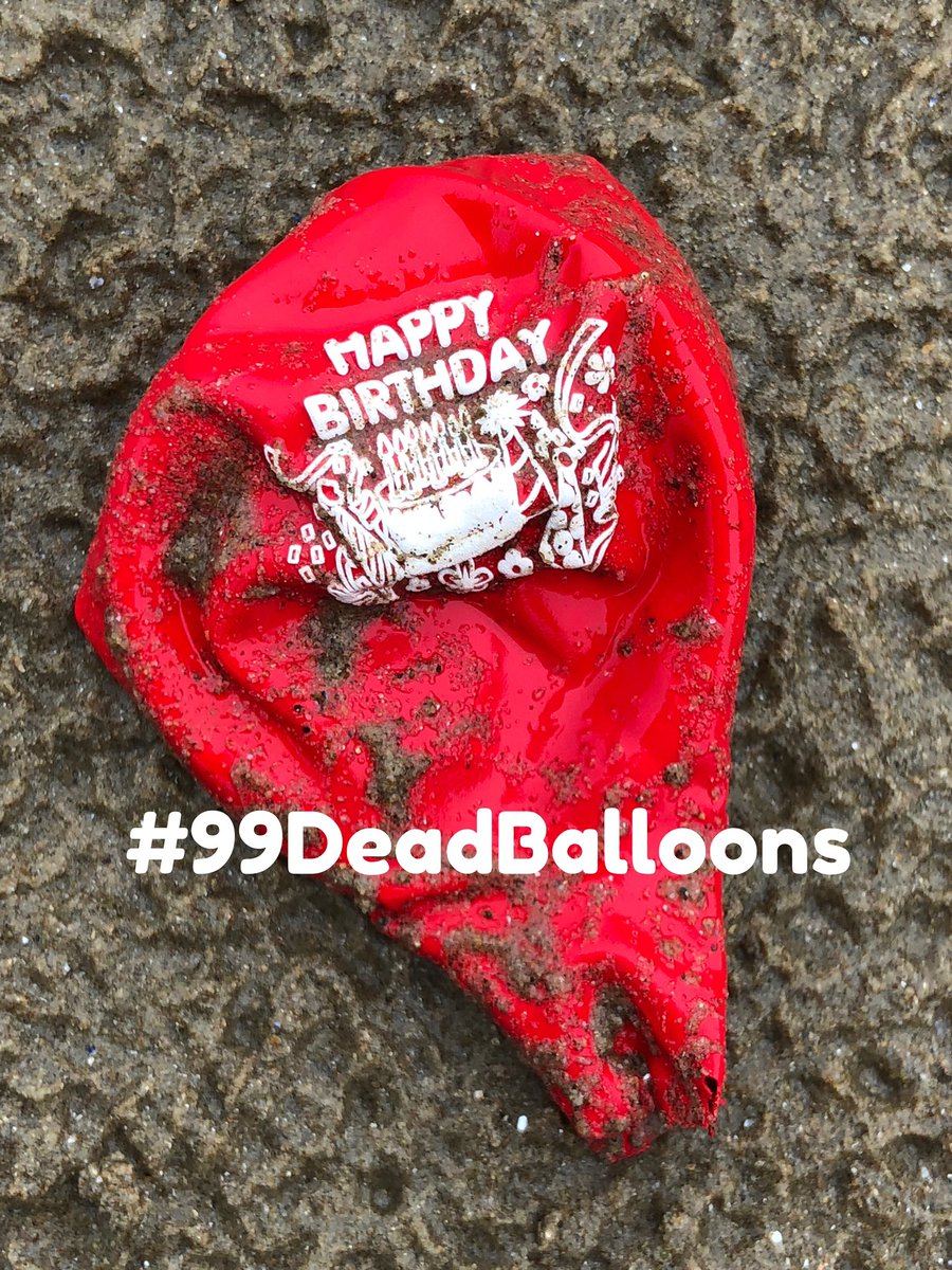 To the tune of #99redBalloons... #99DeadBalloons Littering the streets and beach. Every one, could spell death. Tangled wildlife, starved of breath. Swallowed whole, mistook for prey Killing wildlife every day. Let's focus on alternatives. And give all these damn balloons a miss.