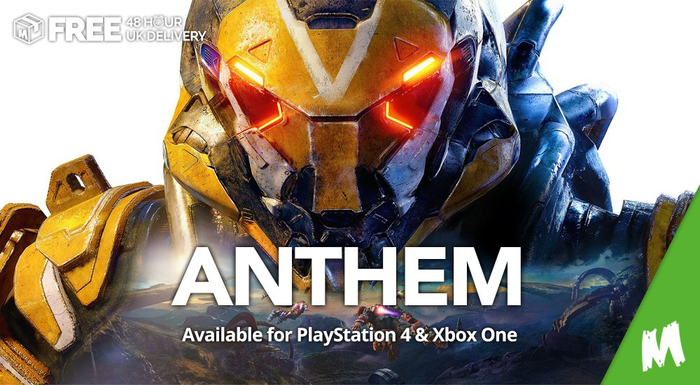 COMPETITION TIME!!!We're giving away a copy of #Anthem for #PS4 or #XboxOne!!!Simply follow us at @MonsterShopUK, RT this tweet and comment the platform of your choice below to be in with a chance of winning!Winner will be announced tomorrow at 3PM!!#MonsterShop #Giveaway