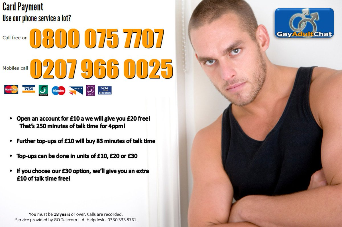 You can try all the gay chatlines for free if calling from a new phone!