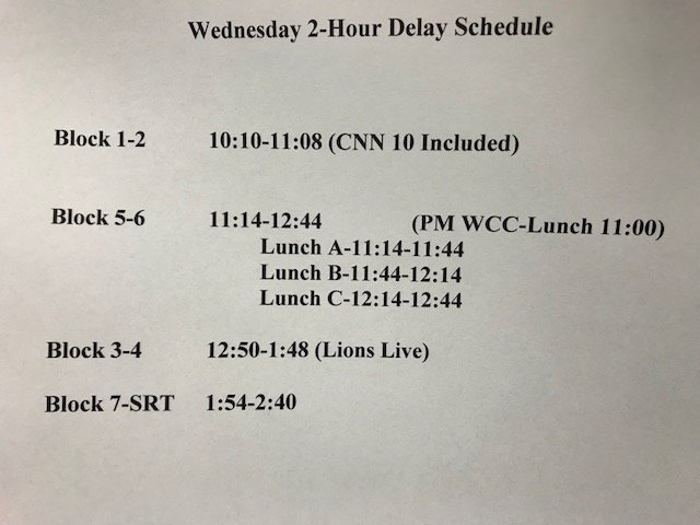Rushville H S's photo on 2 Hour Delay