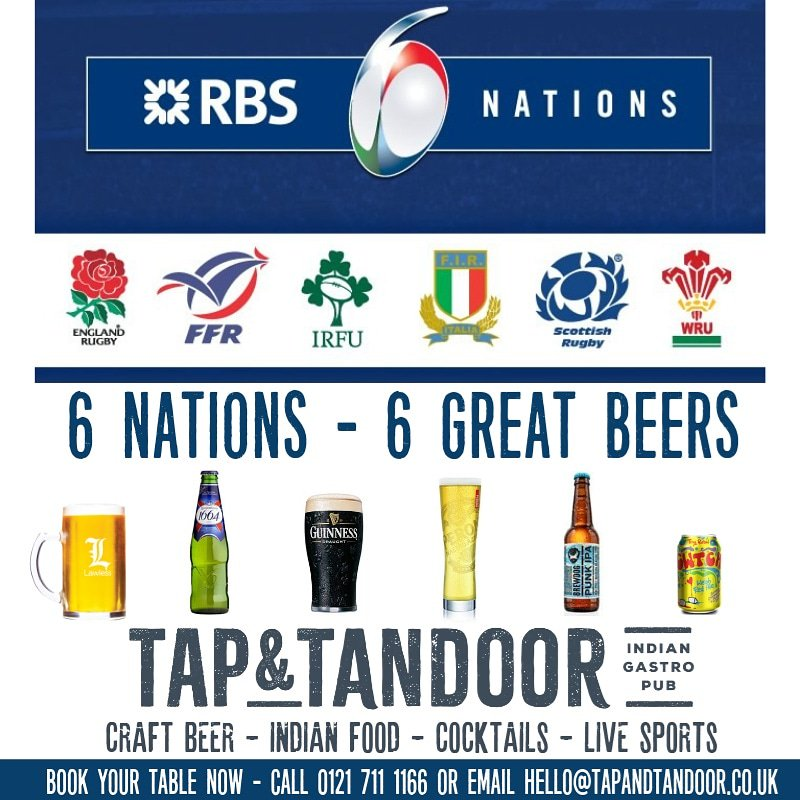 Join us this weekend and enjoy watching Six Nations rugby with a beer to  match  6nations  rugby  6nationsrugby  beer  craftbeer  englishbeer   welshbeer ... 508b83dd7