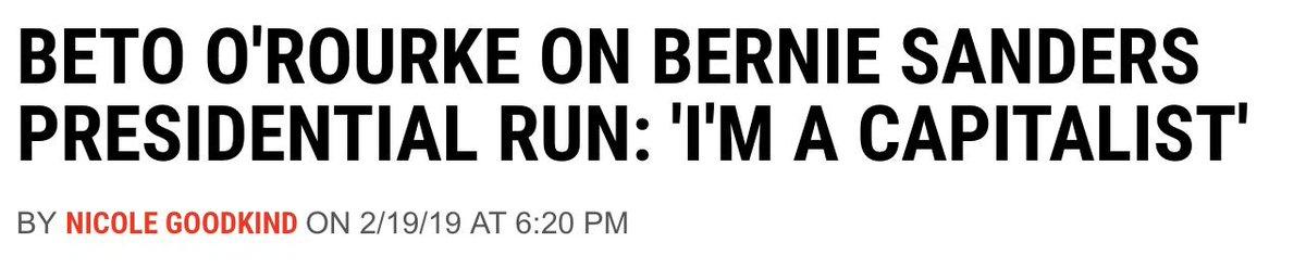 hell yeah, rock on, my dude https://www.newsweek.com/bernie-sanders-beto-orourke-socialism-2020-democrats-president-1336446…