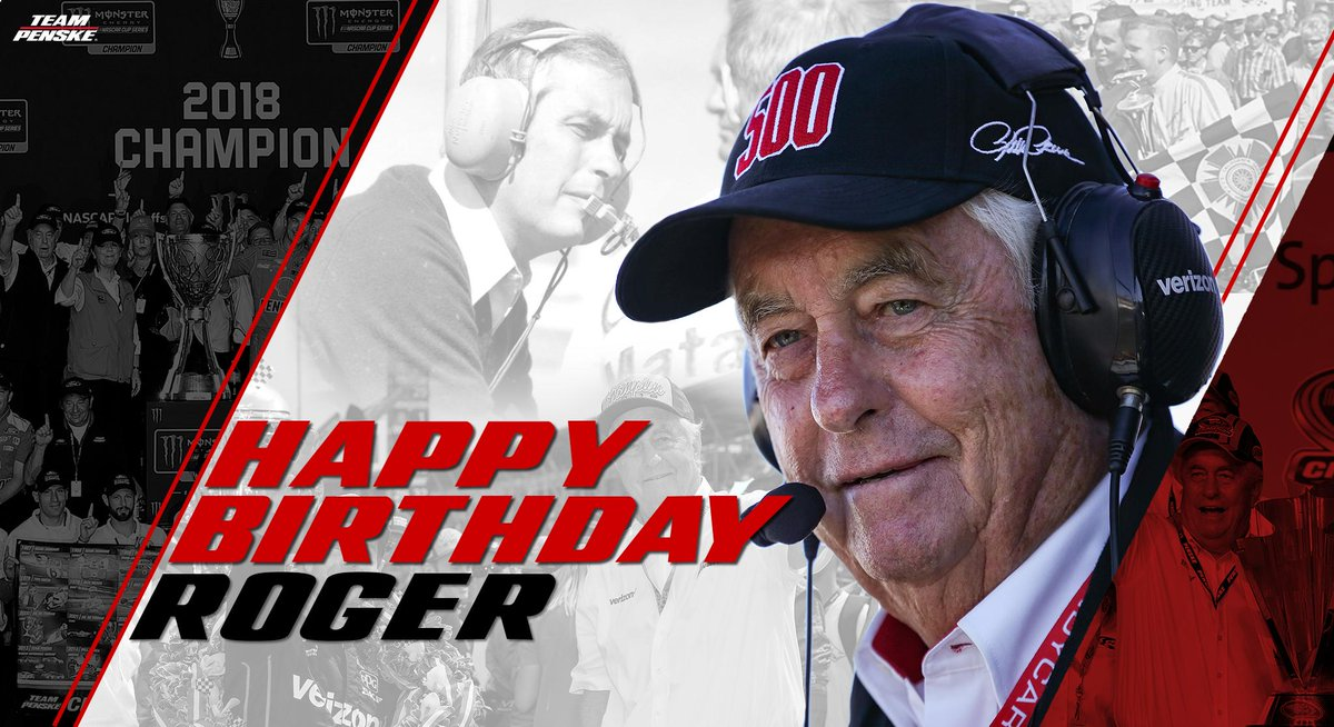 Happy birthday to our leader, Roger Penske!  Retweet to help us wish The Captain a happy birthday! 🎉