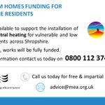 New funding is available for Shropshire residents to install first time central heating at home ⬇️⬇️ #KeepShropshireWarm