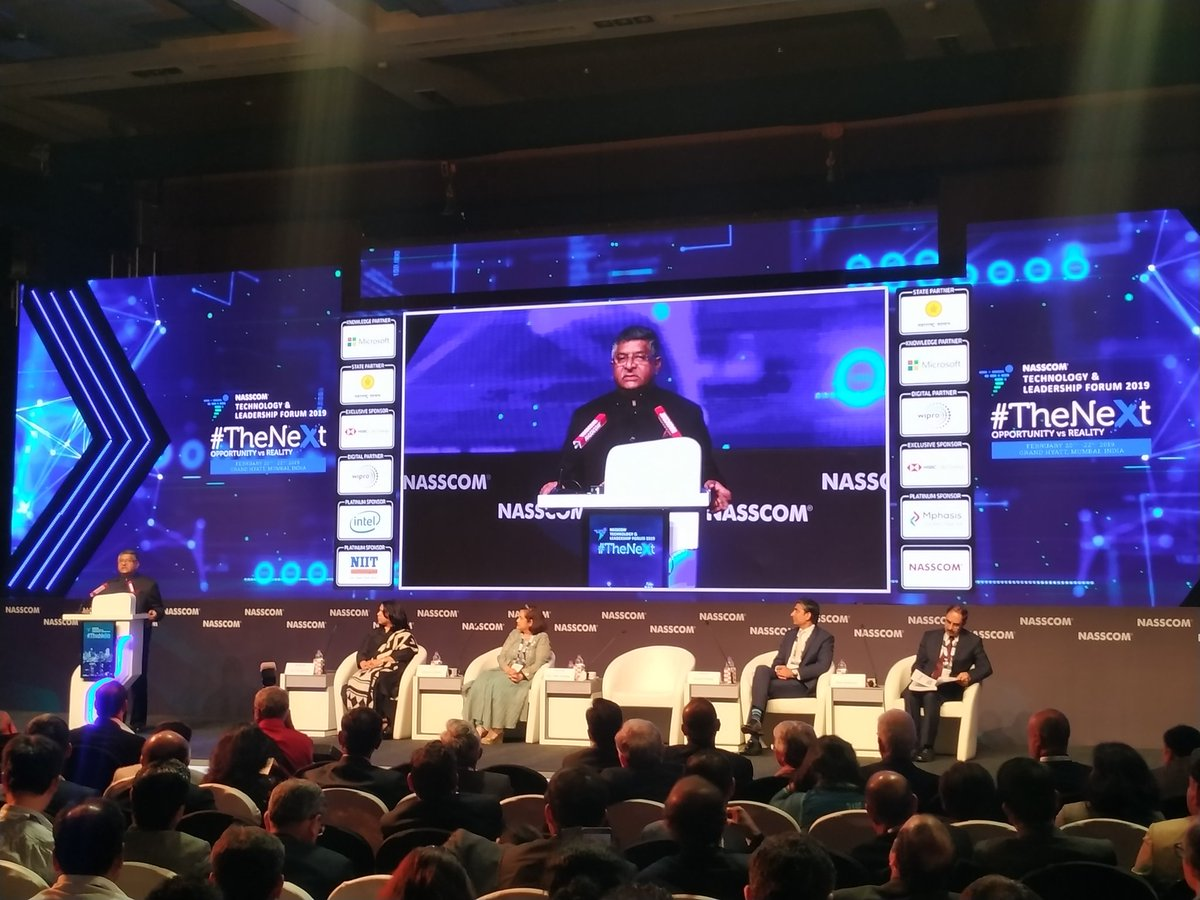 The real success of India's digital ecosystem has been its ability to empower the common man by giving him/her the power of technology:  @rsprasad #NASSCOM_TLF #TrillionDollarDigitalEconomy