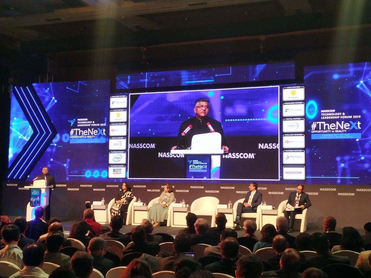 Digital connect is the proper connect; 1.1 lakh crore rupees has been saved in last five years due to plugging of leakages by way of #DigitalPayments and use of Aadhaar: Minister @rsprasad #NASSCOM_TLF