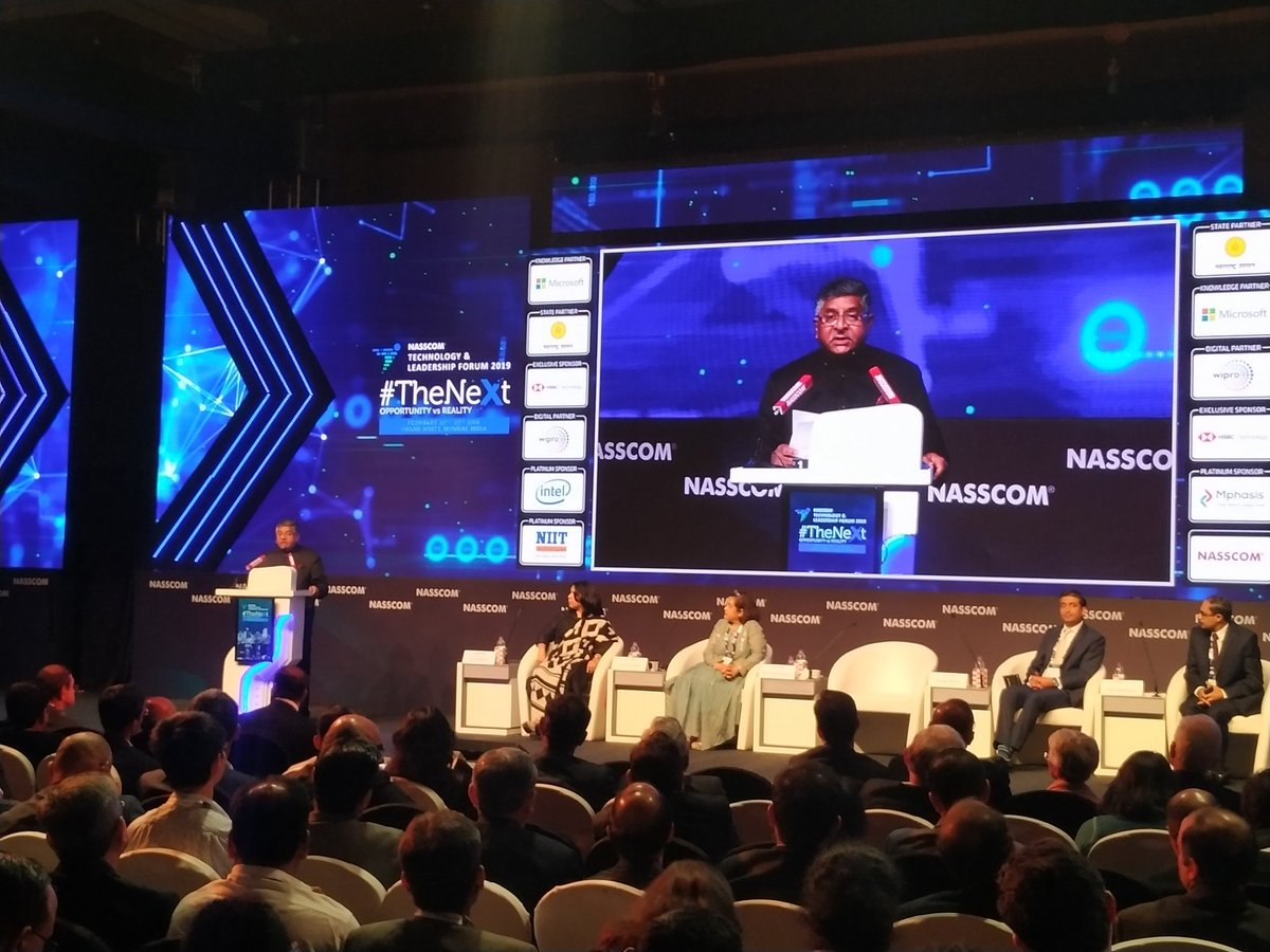 Digital governance is good governance; digital delivery is fast delivery. The robust digital backbone of GST is creating extraordinary levels of data which in turn creates opportunities in allied areas: @rsprasad #NASSCOM_TLF