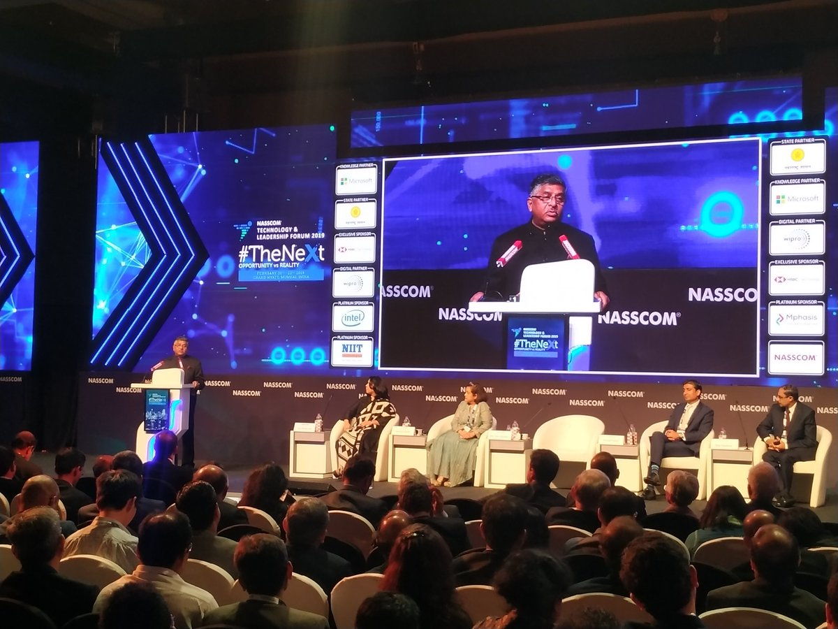 Common Service Centres provide a variety of services and are playing a very important role in improving digital literacy in the country: @rsprasad #NASSCOM_TLF