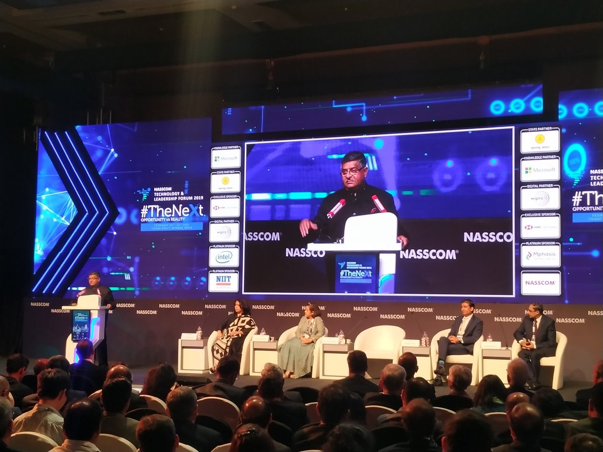 India has the potential to become a big centre of data analysis; urge @nasscom to explore what more can be done to attain this. Data analytics is the future: Minister @rsprasad