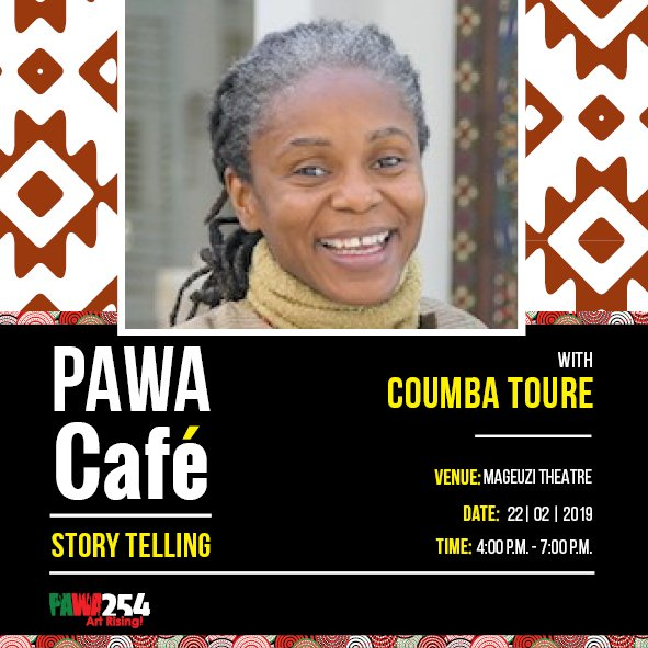 This Friday, 22nd February 2019 @Pawa254 between 4pm -7pm, we are pleased to host accomplished Senegalese storyteller Coumba Toure who will showcase a section of her work at the PAWA Café.  #PAWACafe