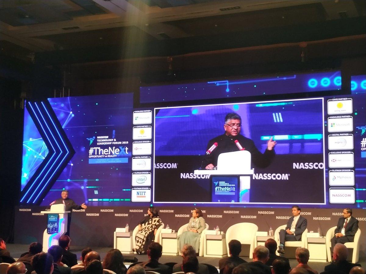 We want the @GoI_MeitY Report on India's Trillion Dollar Digital Opportunity to be a benchmark report:  @rsprasad  #TrillionDollarDigitalEconomy #NASSCOM_TLF