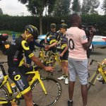 Image for the Tweet beginning: @Tour_du_Rwanda team arrivalFrench PCT @TeamDEN_fr