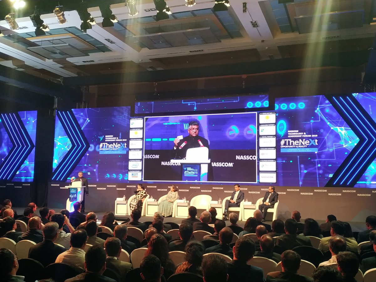 You would be amazed to know how farmers are adopting digital technology and getting empowered:  Minister @rsprasad #TrillionDollarDigitalEconomy #NASSCOM_TLF