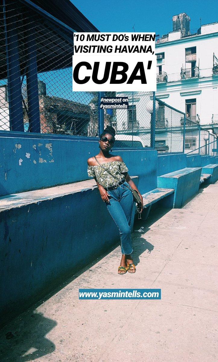 New Post on  http:// Yasmintells.com  &nbsp;   ! Sharing &quot;10 Must Do&#39;s When Visiting Havana, Cuba&quot;  Enjoy the post! #yasmintells #travel #havana #cuba #travelblog #contentcreators #exploretocreate  http://www. yasmintells.com/2019/02/10-mus t-dos-when-visiting-havana-cuba.html?m=1 &nbsp; … <br>http://pic.twitter.com/f17qk7uciF
