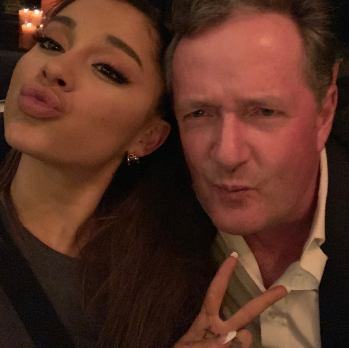 Ariana Grande and Piers Morgan Are Done Feuding—and There Are Pics to Prove It