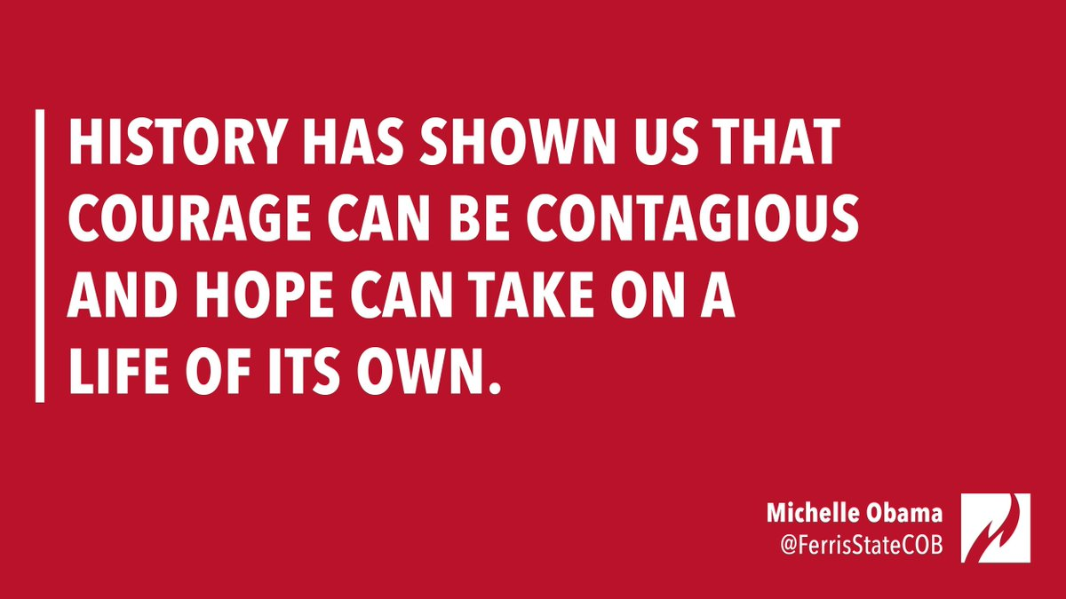 &quot;History has shown us that courage can be contagious and hope can take on a life of its own.&quot; —Michelle Obama #MidWeekMotivation<br>http://pic.twitter.com/Pm9mKTWJ4F