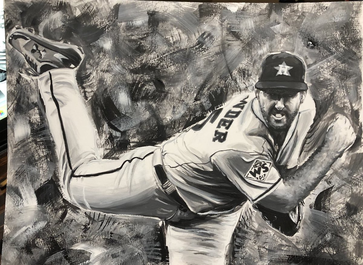 Acrylic painting I did of @JustinVerlander a little while back! One of my faves that I've created so far #TakeItBack #Astros<br>http://pic.twitter.com/BNYLPjjAVF