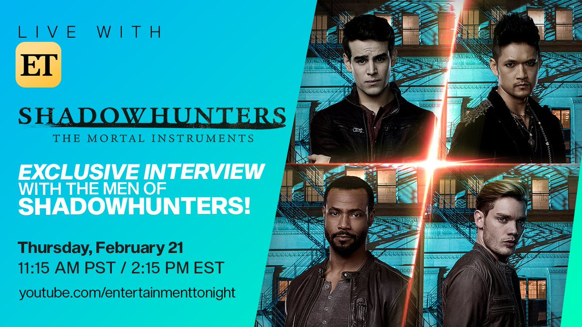 Vampires 🧛🏻‍♂️, werewolves 🐺, and warlocks 🧙🏻‍♂️ - oh my!  Don't miss an exclusive LIVE interview with the supernatural men of #Shadowhunters! Join @DomSherwood1, @HarryShumJr, @isaiahmustafa & @arosende to get all the Downworlder scoop on the final season! 🔥  https://t.co/9UxFgnLIch
