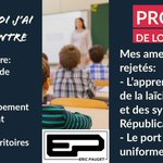Image for the Tweet beginning: #ProjetDeLoiEcole ❌Pourquoi j'ai voté CONTRE 👎🏻Rien sur