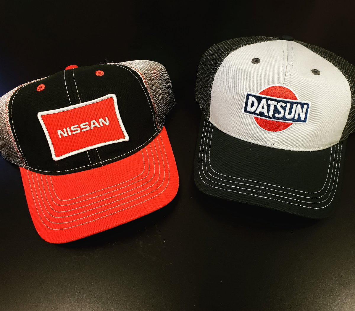 d24e6d582c2 Which Nissan Trucker hat do you like  Nissan or Datsun  Both available in  the profile link  partsfornissans  parts  datsun  datsun240z  datsun260z ...