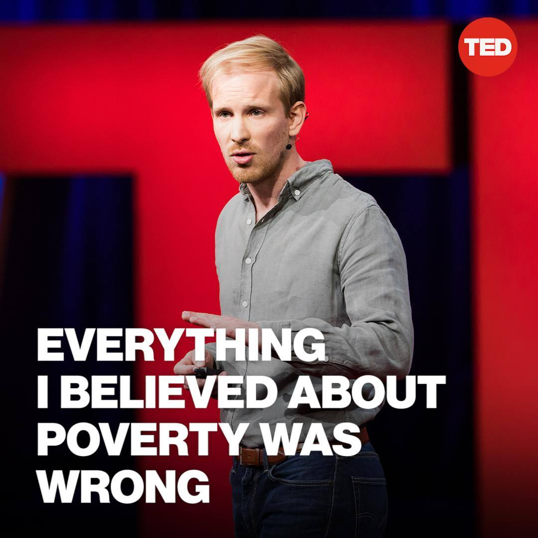 """""""Basic income is not a favor but a right,  and its proponents have spanned the spectrum from the left to the right."""" — @rcbregman  Watch Rutger Bregman's full TED Talk to learn about the case for basic universal income:"""