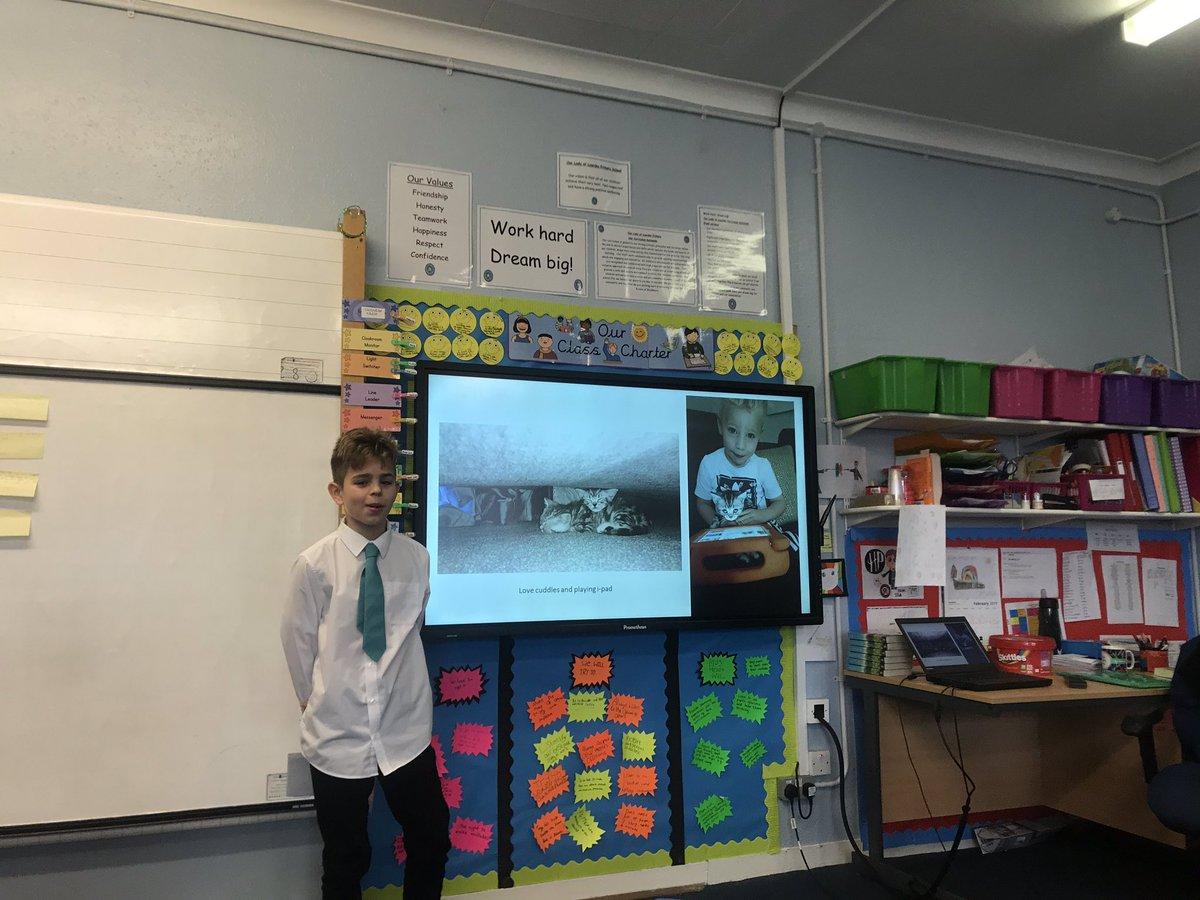 All the class talks in p6 today were a huge success!  it can sometimes be a daunting thing to stand up and deliver a talk in front of the class, but our pupils smashed it and demonstrated real confidence today. They have clearly spent so much time researching and preparing. <br>http://pic.twitter.com/J8wKz7cQi4