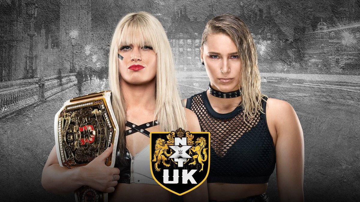 A HUGE #NXTUK #WomensTitle rematch is going down TODAY at 3 PM ET streaming on @WWENetwork as @tonistorm_ defends against @RheaRipley_WWE!