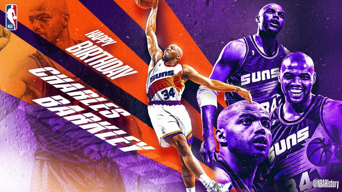 Join us in wishing 11x #NBAAllStar, '92-93 #NBA MVP, & 2006 @Hoophall inductee... Charles Barkley a Happy 56th Birthday! #NBABDAY