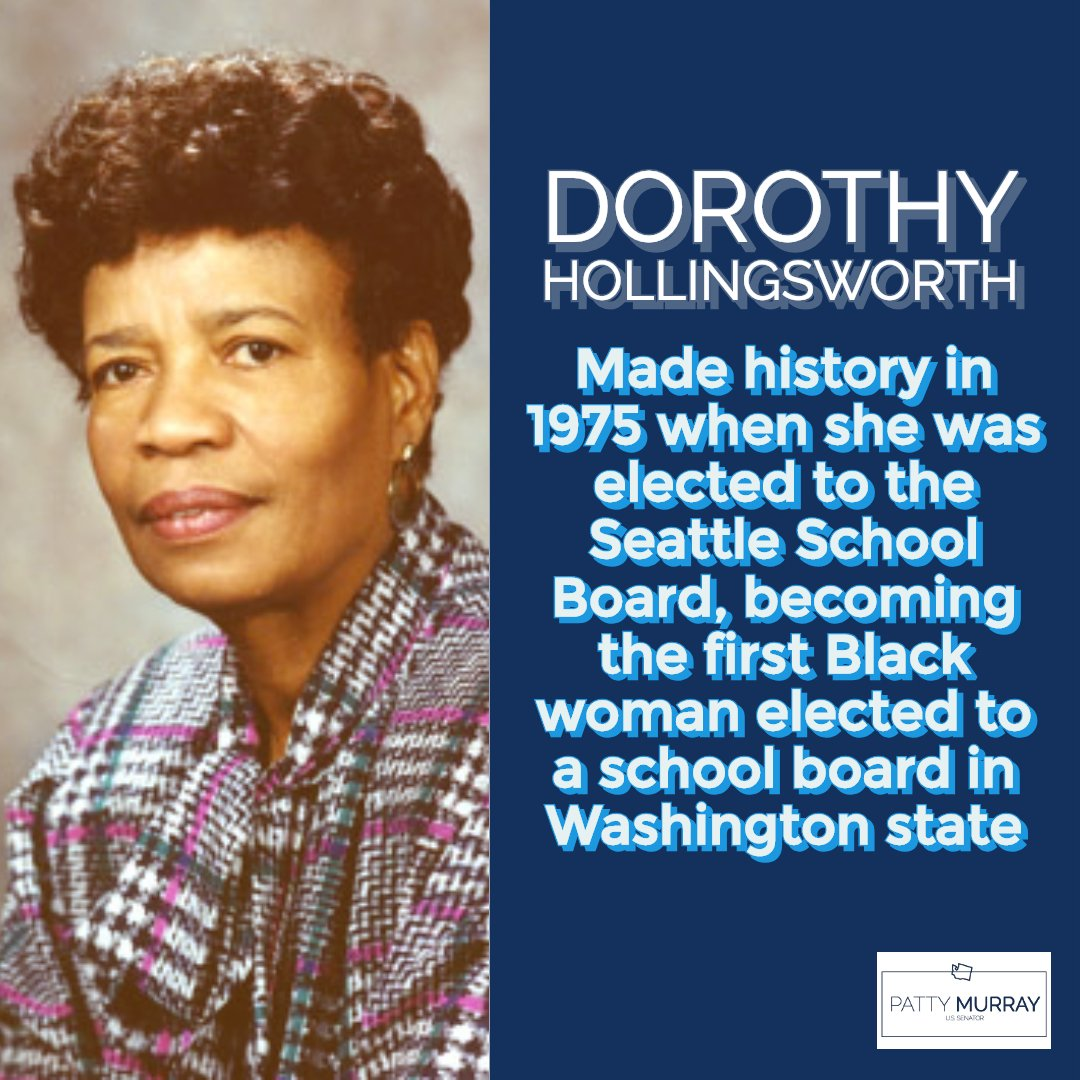 Educator and social worker Dorothy Hollingsworth, who was denied a position teaching in a public school, made history in 1975 when she was elected to the Seattle School Board, becoming the first Black woman elected to a school board in WA.  #BlackHistoryMonth
