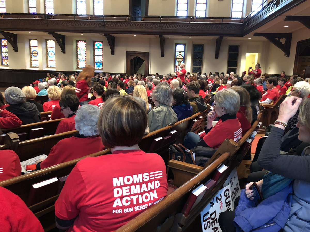 Packed house for Moms Demand Action Advocacy Day!  Expect us!  #gapol #Enough #notonemore