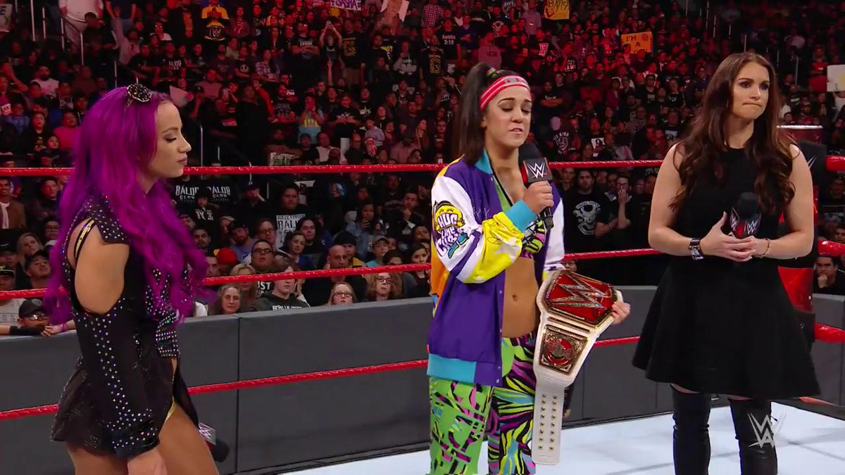 ON THIS DAY: @itsBayleyWWE was NOT about to just hand over the #RAW #WomensTitle two years ago today! http://wwe.me/X8joMp